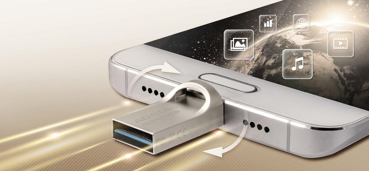 A-DATA UC370 USB-A AND USB-C 64GB  OTG