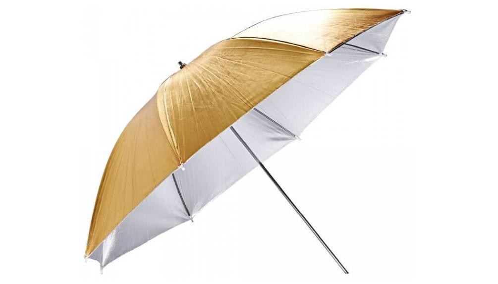 GODOX UB-007 Umbrella Gold Silver 84cm