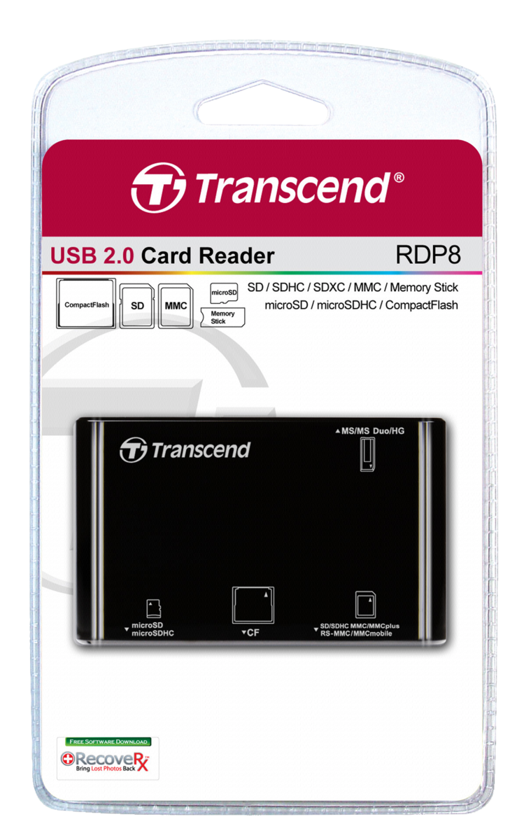 Transcend Multi-Card Reader RDP8K USB 2.0