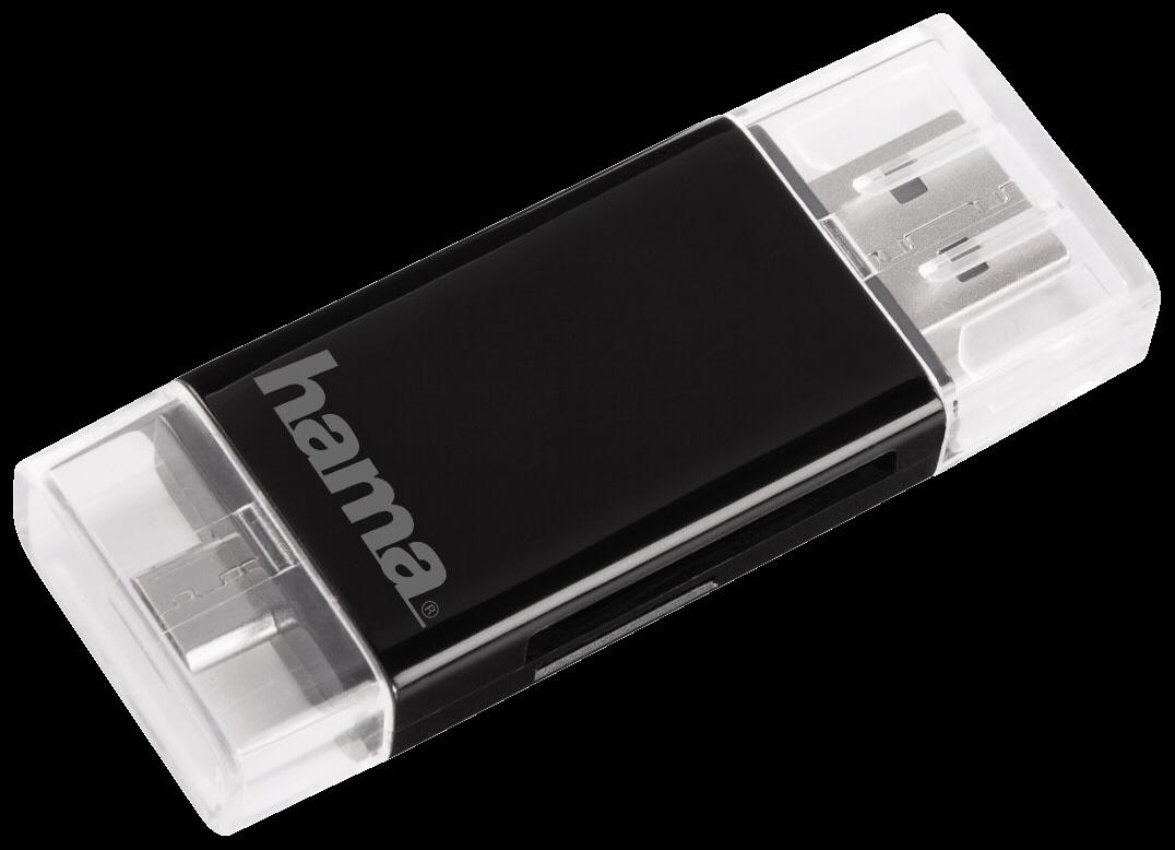 Mini Sd Kartenleser.Hama 2in1 Usb 2 0 Otg Card Reader Sd Microsd 54130