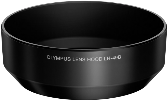 Objektyvo blenda Olympus LH-49B Lens Hood for M2518 black