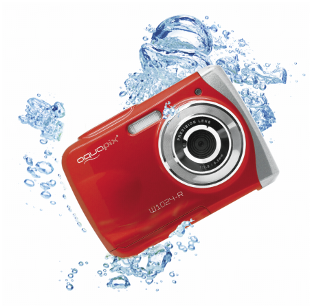 Skaitmeninis fotoaparatas Easypix Aquapix W1024 Splash red