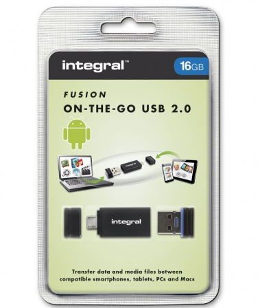 Integral Fusion 16GB + USB OTG Adapter