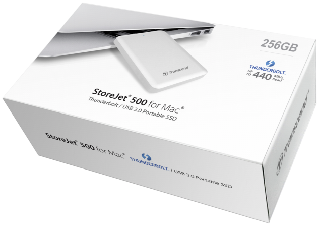 SSD diskas Transcend ext. SSD for Mac 256GB SJM500 Thunderbolt USB 3.0
