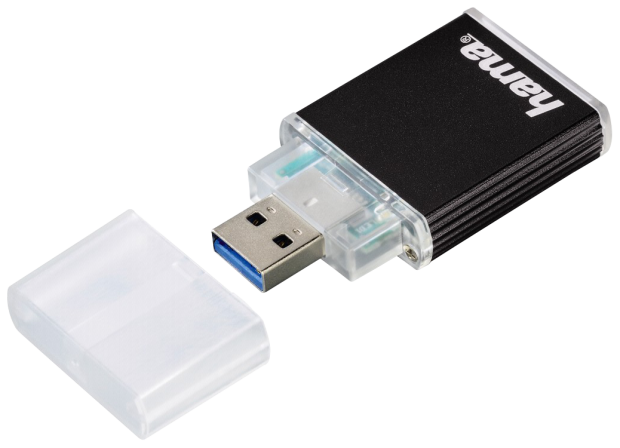 Hama USB 3.0 UHS II Card Reader SD/SDHC/SDXC Alu anthracite
