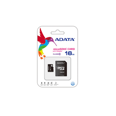 Atminties kortelė A-DATA 16GB microSDHC Card Class 4
