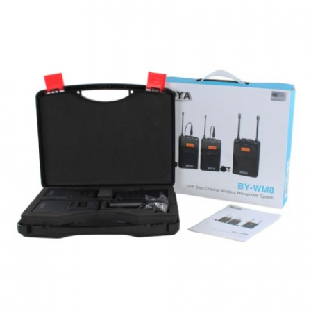 Boya UHF Dual Lavalier Microphone Wireless BY-WM8