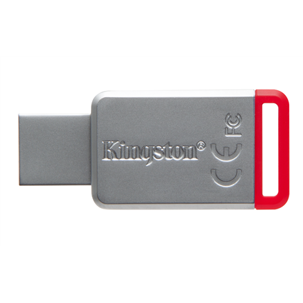 Kingston DataTraveler 50 32 GB, USB 3.0, Red, Silver