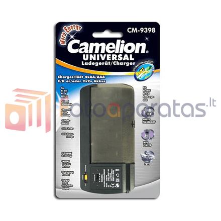 Baterijų įkroviklis Camelion Universal Charger Cm 9398