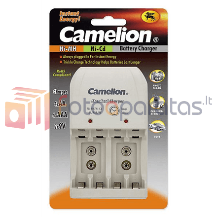 Baterijų įkroviklis Camelion Overnight Charger Bc 0904s Without Batteries